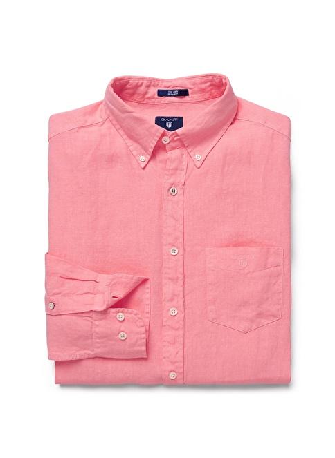 Gant Düz Regular Gömlek Pembe